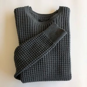 AllSaints Gray Kargg Crew Sweater
